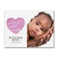 Love at First Sight - Photo Birth Announcement